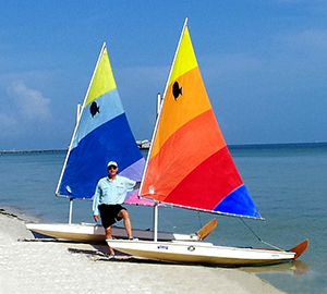 Jay Winters teaches sailing on Sunfish Sailboats in Tampa Bay